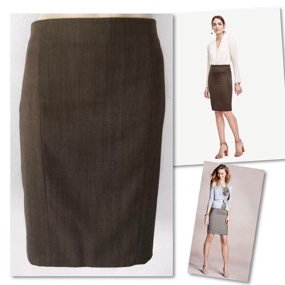 Ann Taylor Dresses & Skirts - Ann Taylor Petite Herringbone Suit Skirt 10P